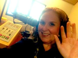 Julie James in the studio